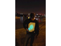 IA Interactief Glow Sweatshirt Super Groen - Zwart (M)