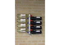 United Entertainment RVS Flessenhouder voor aan de muur - 8 Flessen