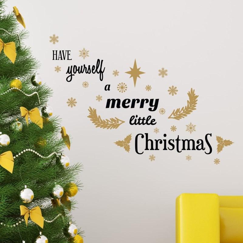 Walplus Home Decoratie Sticker - Merry Little Christmas