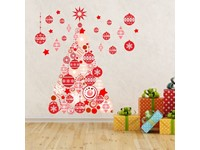 Walplus Home Decoratie Sticker - Rode Kerstboom