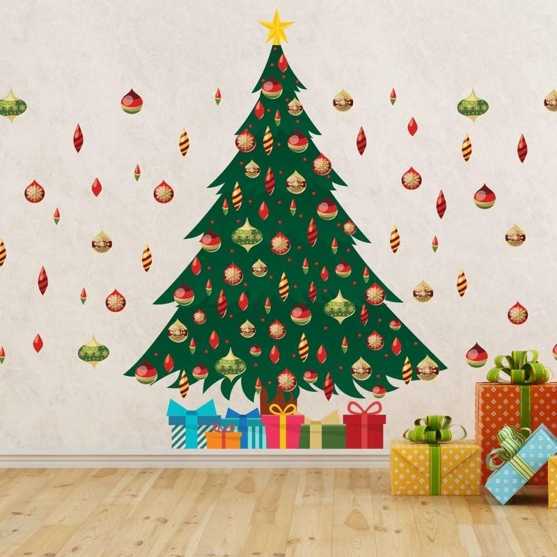 Walplus Home Decoratie Sticker - Groene Kerstboom
