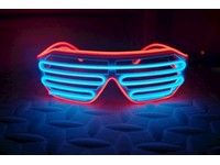IA LED Light Up Bril - Blauw en Rood