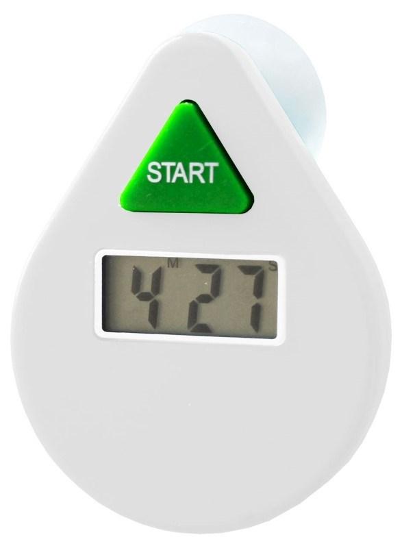 PowerPlus EcoSavers Shower Timer 5 Minutes - Digitale LCD Douchetimer met Alarm - Waterbesparend