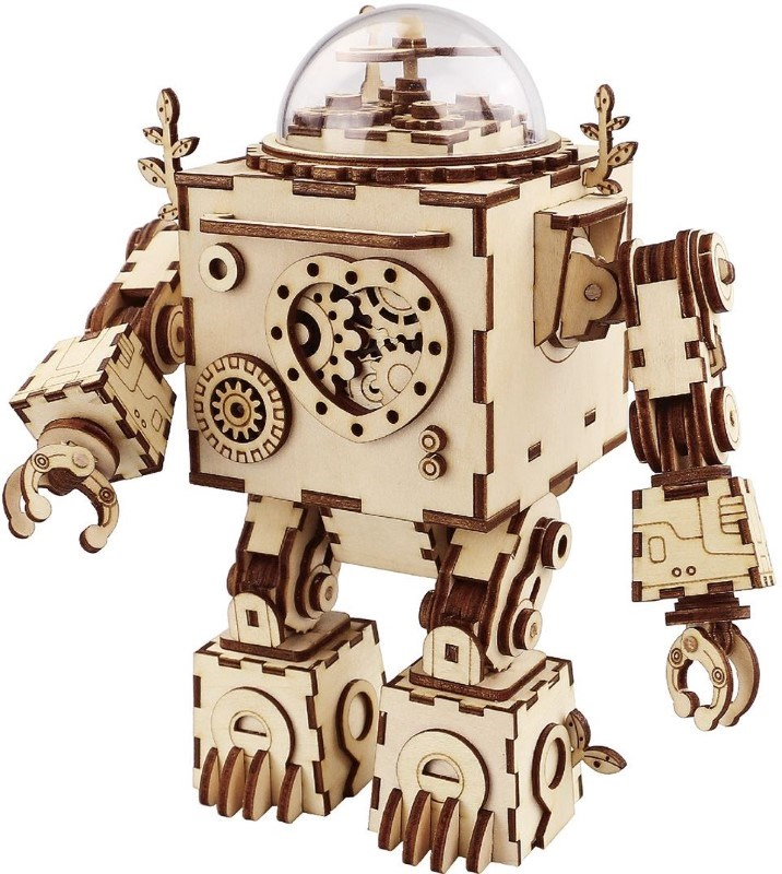 Robotime Orpheus AM601 - Houten modelbouw - Muziekdoos - Steampunk - DIY