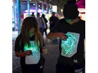 IA Interactief Glow T-shirt voor Kinderen - Super Groen - Zwart - 9-11 Jaar