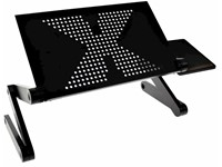 United Entertainment Multifunctionele Laptop Standaard - Zwart