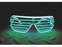 IA LED Light Up Bril - Groen en Wit