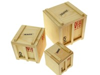 Labyrinth Inbox - Opbergbox - Set van 3 design Scheeps Kisten