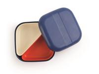 Ekobo GO Bento Lunchbox Bamboevezel Vierkant - 15x15x6,5 cm - Royal Blue