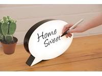 Fizz Creations Beschrijfbare Lichtbox Speech Bubble met LED Verlichting
