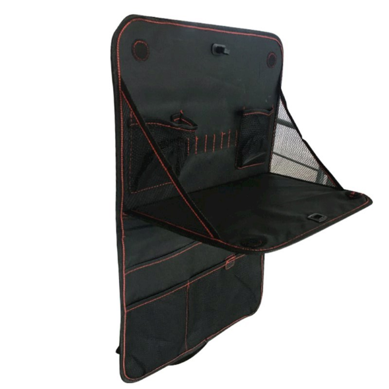 United Entertainment - Autostoel Organiser met Uitklapbare Tafel - 38x60 cm - Zwart