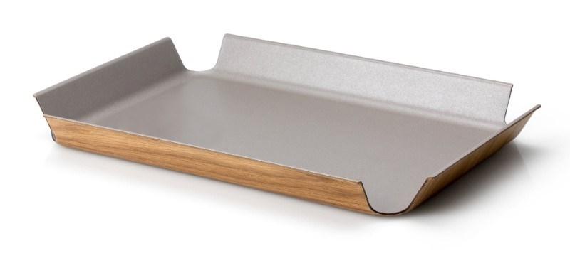 Continenta Dienblad met Antislip Bekleding - 45x34cm - Taupe Metallic