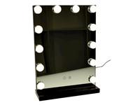 United Entertainment Make-up Spiegel met LED Verlichting – Hollywood stijl - Zwart