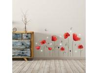 Walplus Home Decoratie Sticker - Klaprozen met 9 Swarovski Kristallen