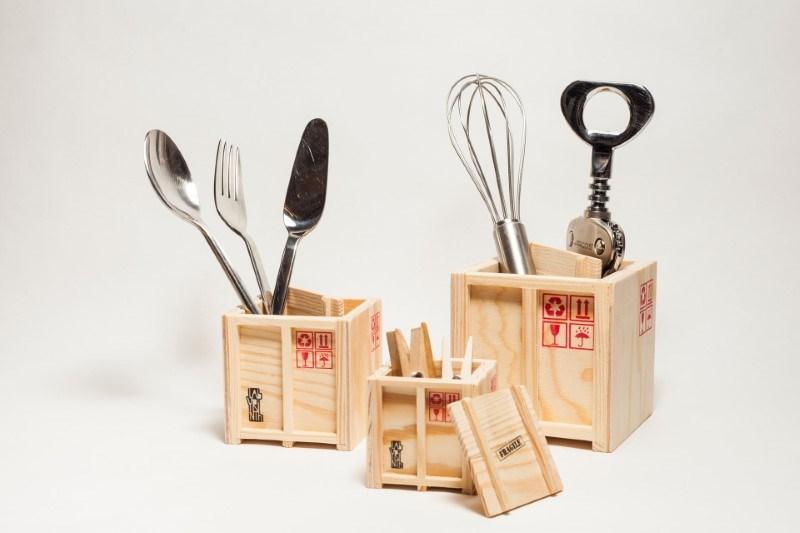 Inbox - Set van 3 design Scheeps Kisten