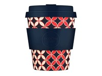 Ecoffee Cup Master Spiros - Bamboe Beker - 250 ml - met Donkerblauw Siliconen