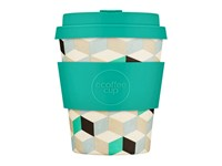 Ecoffee Cup Frescher - Bamboe Beker - 250 ml - met Turquoise Siliconen