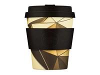 Ecoffee Cup Swanston & Collins - Bamboe Beker - 250 ml - met Zwart Siliconen