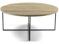 Spinder Design Dress 89 Salontafel 89x89x39 - Eiken/Zwart