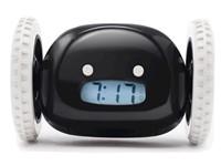 Clocky - Alarm Klok op Wielen - Zwart