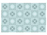 Walplus Jan Bloemrijk Victoriaans Tegelsticker - Blauw/Lichtblauw - 15x15 cm - 24 stuks