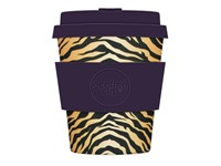 Ecoffee Cup Colchesterfield - Bamboe Beker - 250 ml - met Donkerpaars Siliconen