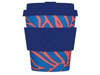 Ecoffee Cup Enough, Buckmaster! - Bamboe Beker - 250 ml - met Blauw Siliconen