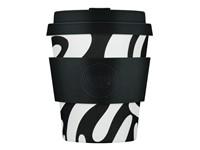Ecoffee Cup Manasa's Run - Bamboe Beker - 250 ml - met Zwart Siliconen