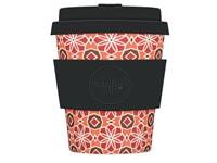 Ecoffee Cup Placa Malacca - Bamboe Beker - 250 ml - met Zwart Siliconen