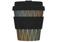 Ecoffee Cup Hudson Worth - Bamboe Beker - 175 ml - met Donkerbruin Siliconen