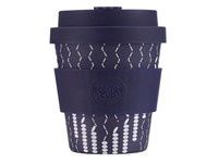 Ecoffee Cup Church & Chambers - Bamboe Beker - 175 ml - met Donkerpaars Siliconen