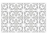 Walplus Abbie Monochromatisch Victoriaanse Tegelsticker - Grijs/Wit - 15x15 cm - 24 stuks
