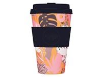 Ecoffee Cup Tsunami at the Halekulani - Bamboe Beker - 400 ml - met Zwart Siliconen