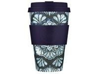 Ecoffee Cup Whence the Fekawi? - Bamboe Beker - 400 ml - met Zwart Siliconen