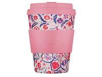 Ecoffee Cup Papa Rosa - Bamboe Beker - 350 ml - met Roze Siliconen