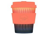 Ecoffee Cup Buck Fiddy - Bamboe Beker - 250 ml - met Oranje Siliconen