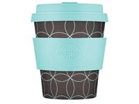 Ecoffee Cup Strangelet - Bamboe Beker - 250 ml - met Turqoise Siliconen