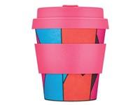Ecoffee Cup Roxy '81 - Bamboe Beker - 175 ml - met Roze Siliconen