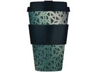 Ecoffee Cup Blackgate - Bamboe Beker - 400 ml - met Zwart Siliconen
