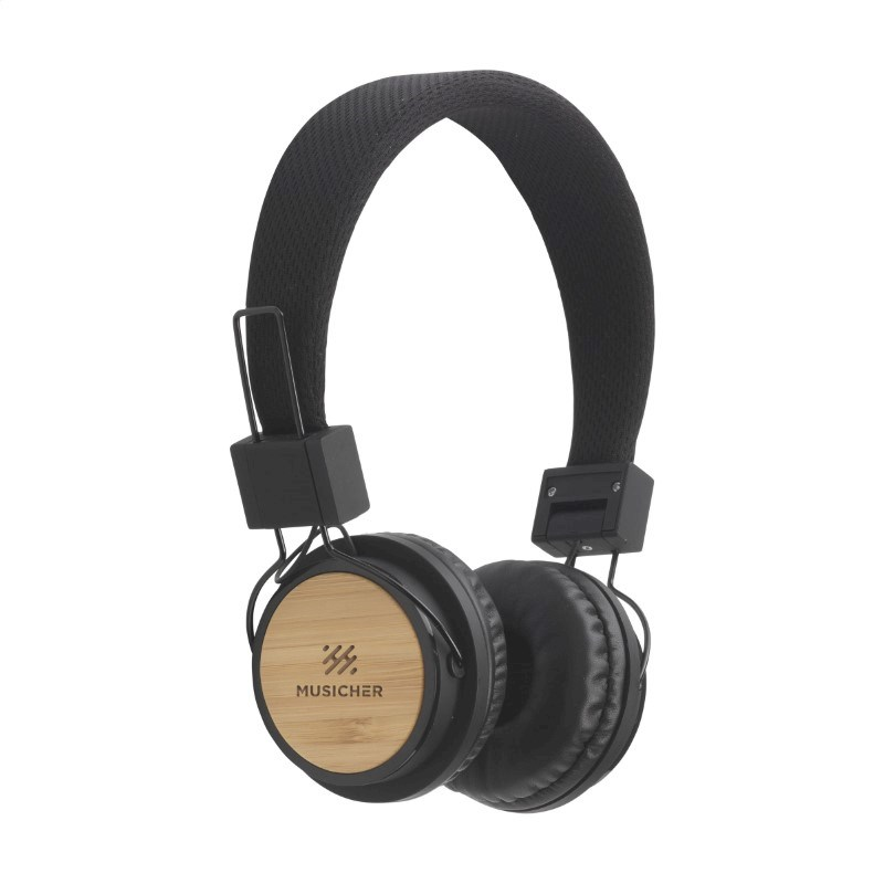 ECO Bamboo wireless headphone koptelefoon