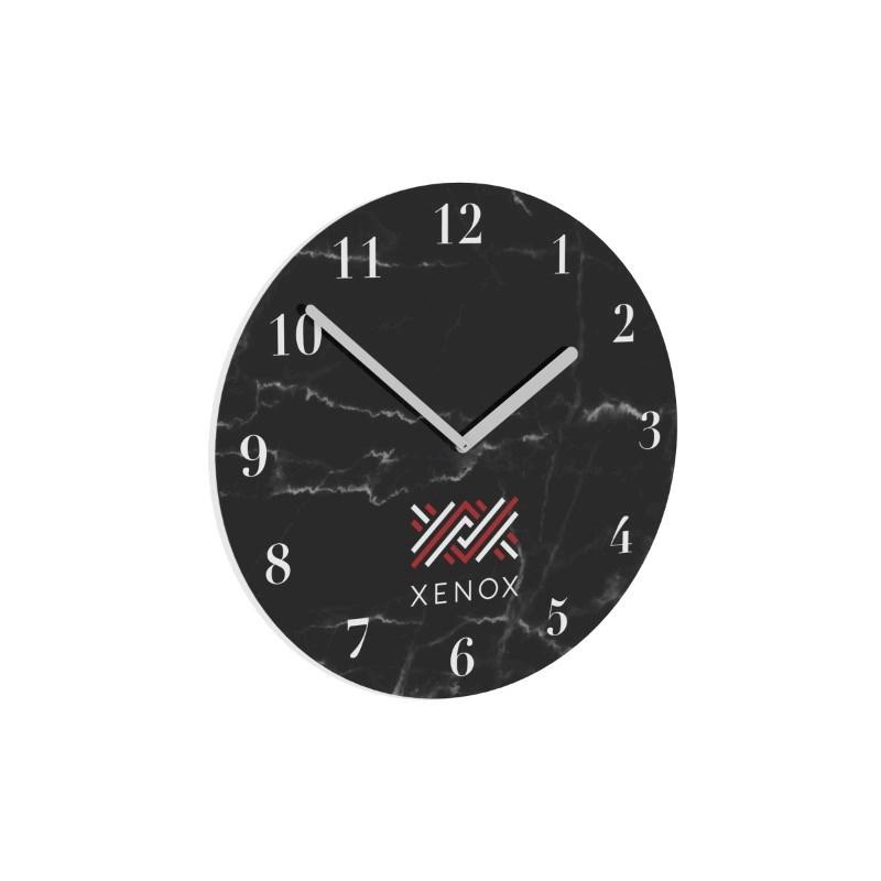 Clock Round 250 mm Wit met bedrukking in full color