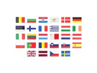 EU Flag Domed Stickers Elke kleur mogelijk met full color doming