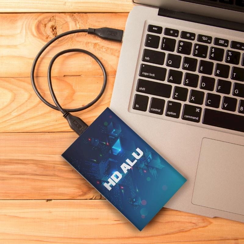 Hard Drive Alu SSD 120 GB Max Print Zilver met bedrukking in full color