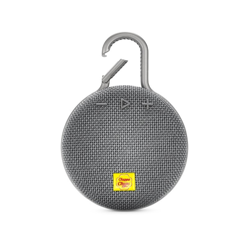 JBL Clip 3 Personalized Stone Grey met full color doming