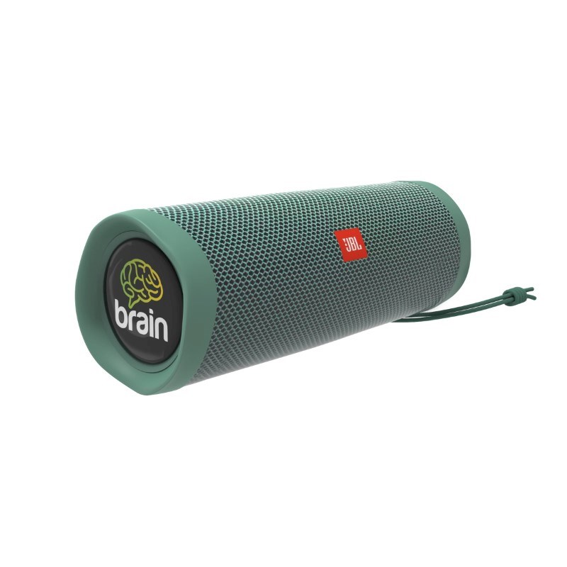 JBL Flip 5 Eco Edition Personalized Doming in full color (2x) Mosgroen met full color doming