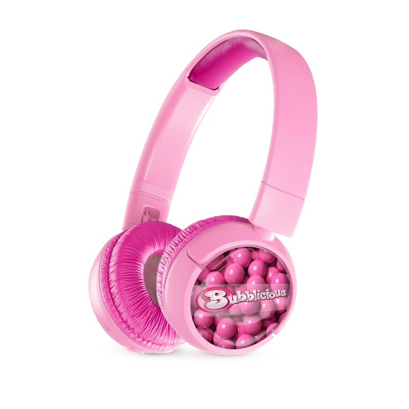 JBL On-Ear JR300BT Personalized Punky Pink met full color doming