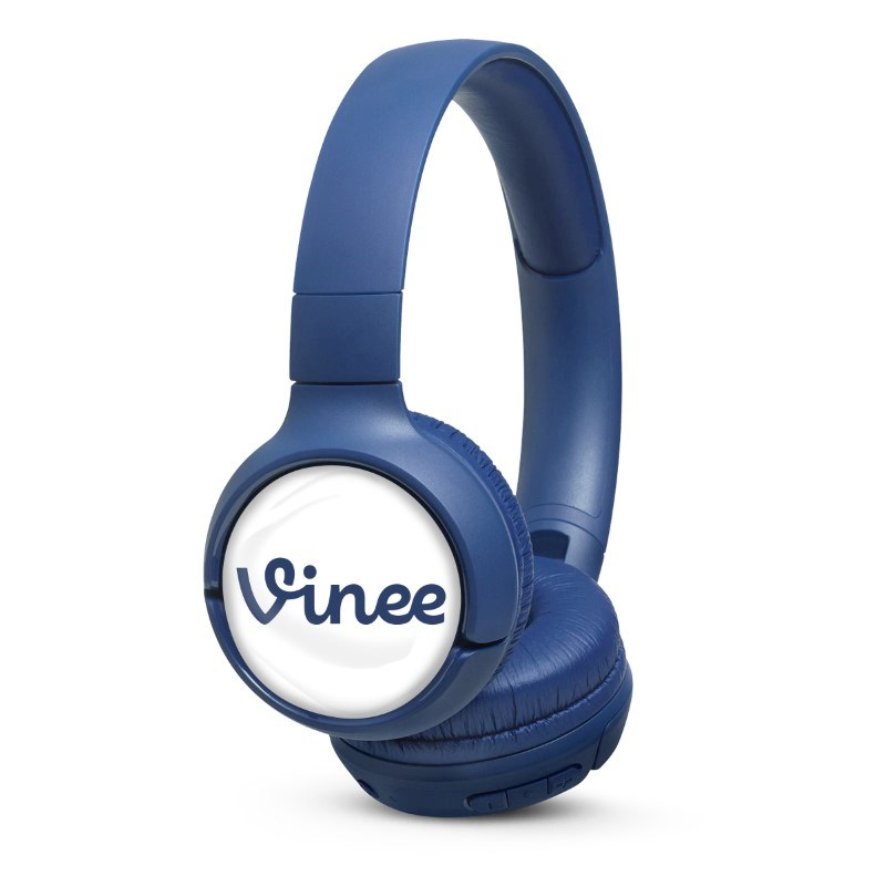 JBL On-Ear TUNE 500BT Personalized Blauw met full color doming
