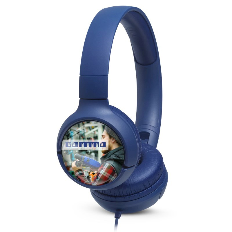 JBL On-Ear TUNE 500 Personalized Blauw met full color doming