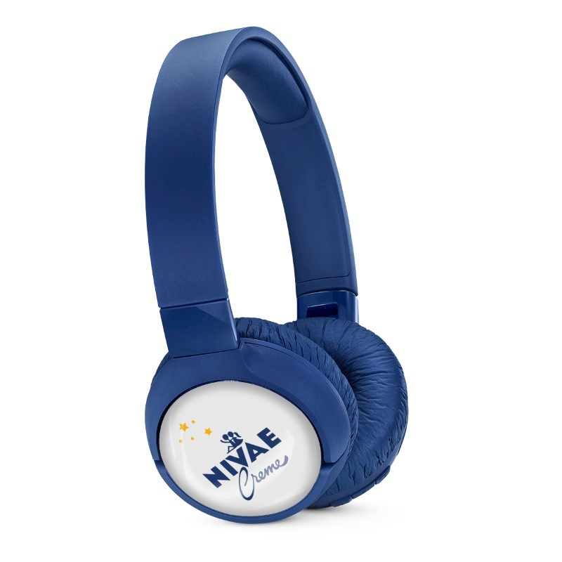 JBL On-Ear TUNE 600BTNC Personalized Blauw met full color doming