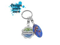 Key Ring Duo Flex Double 20-30 cm2 and 20-30 cm2 met full color doming